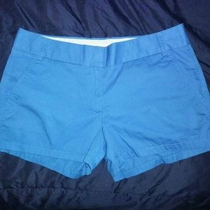 New J Crew 6 Chino Shorts Blue